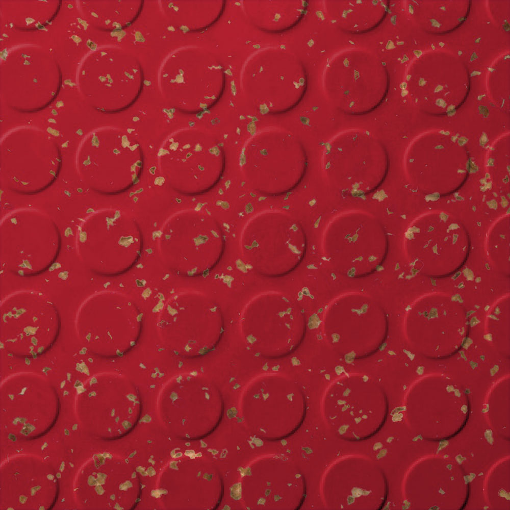 Roppe SafeTCork Raised Design - Low Profile Circular Red