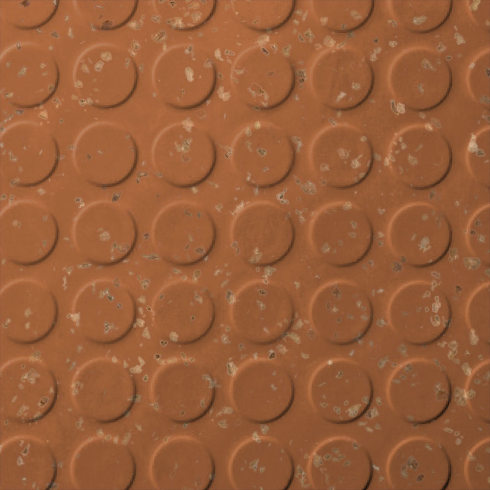 Roppe SafeTCork Raised Design - Low Profile Circular Terracotta