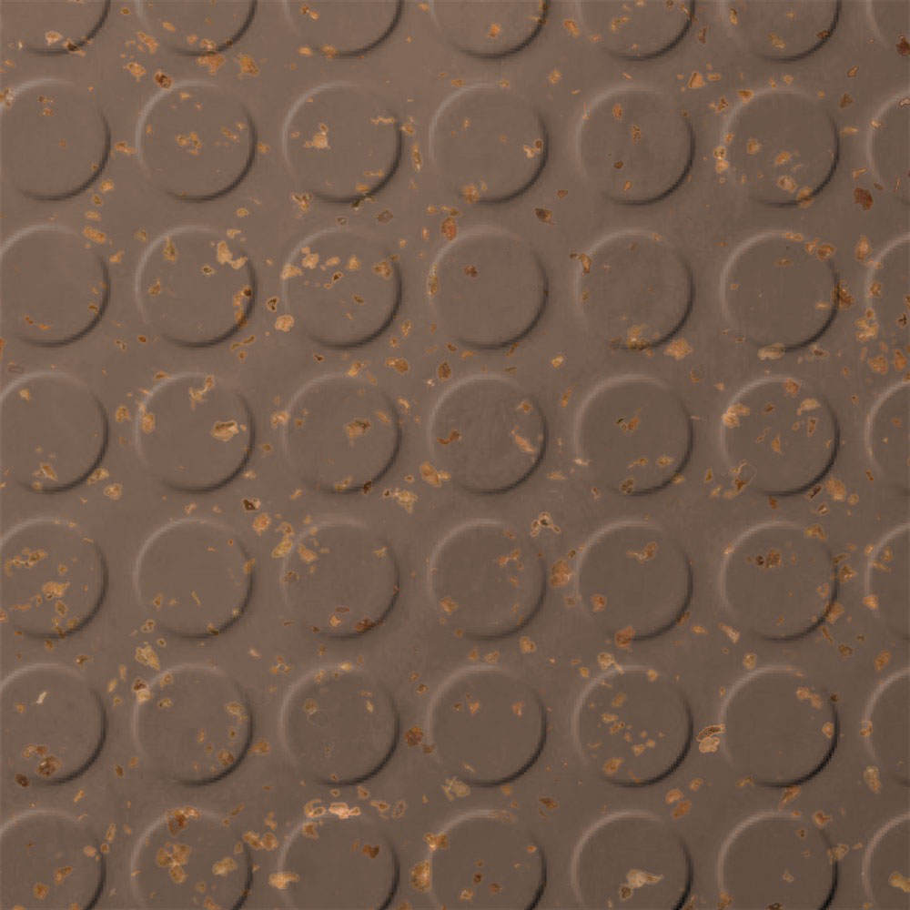 Roppe SafeTCork Raised Design - Low Profile Circular Toffee
