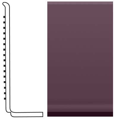 Roppe Pinnacle Rubber Sanitary Base 4 Burgundy 185