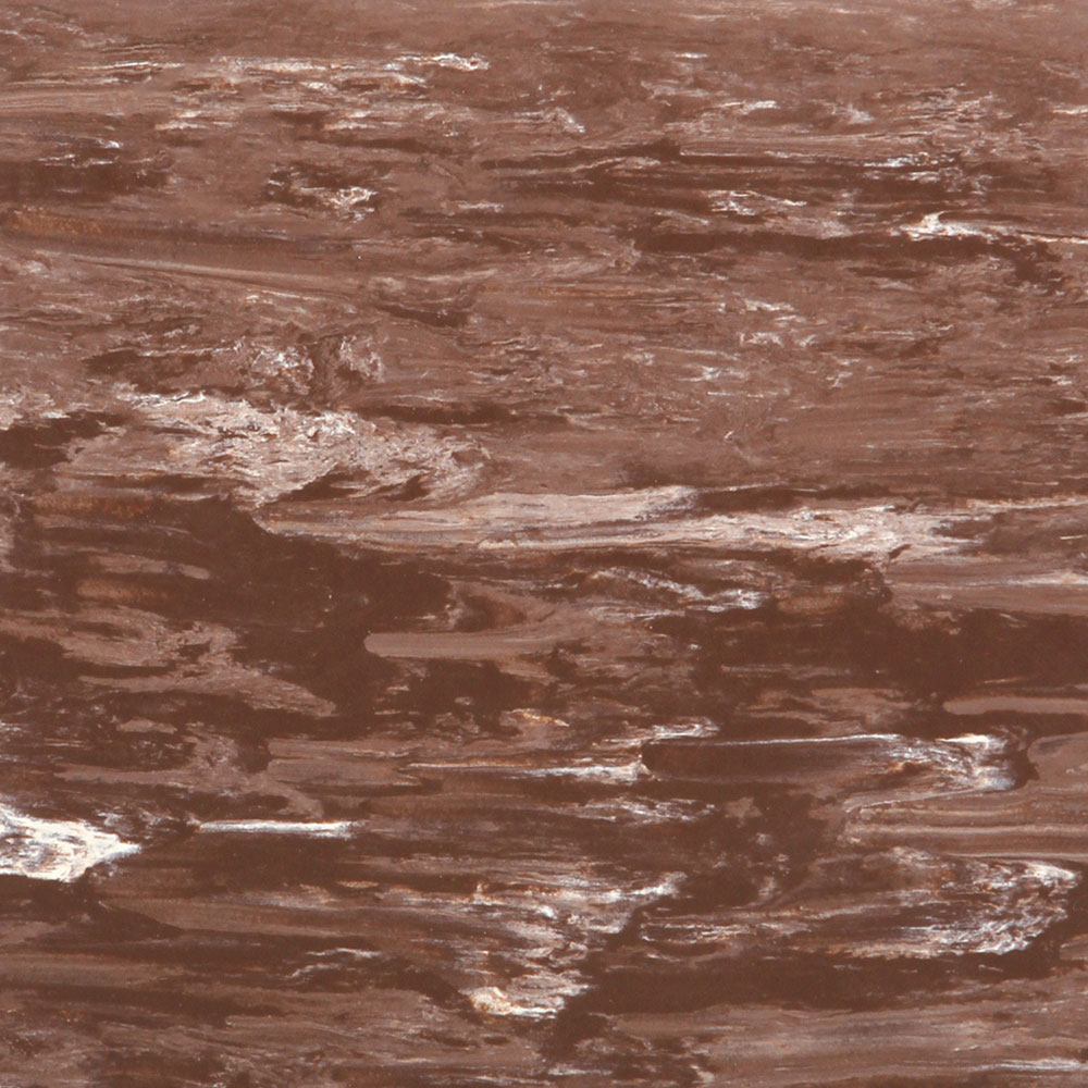 Roppe Smooth & Marbleized Rubber Tile 20 x 20 4.76mm (969 Smooth Design) Russet