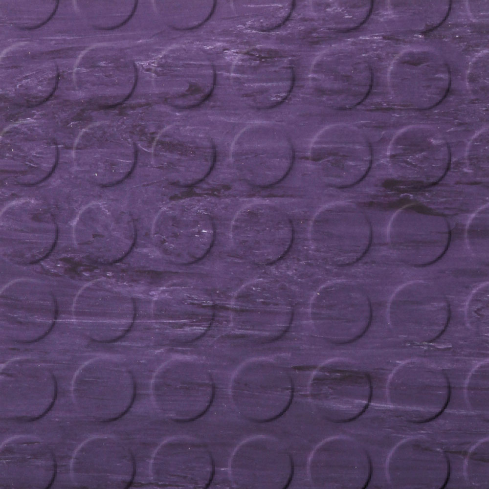 Roppe Stair Tread Low Profile Circular with Square Nose 60 Marbleized Aubergine