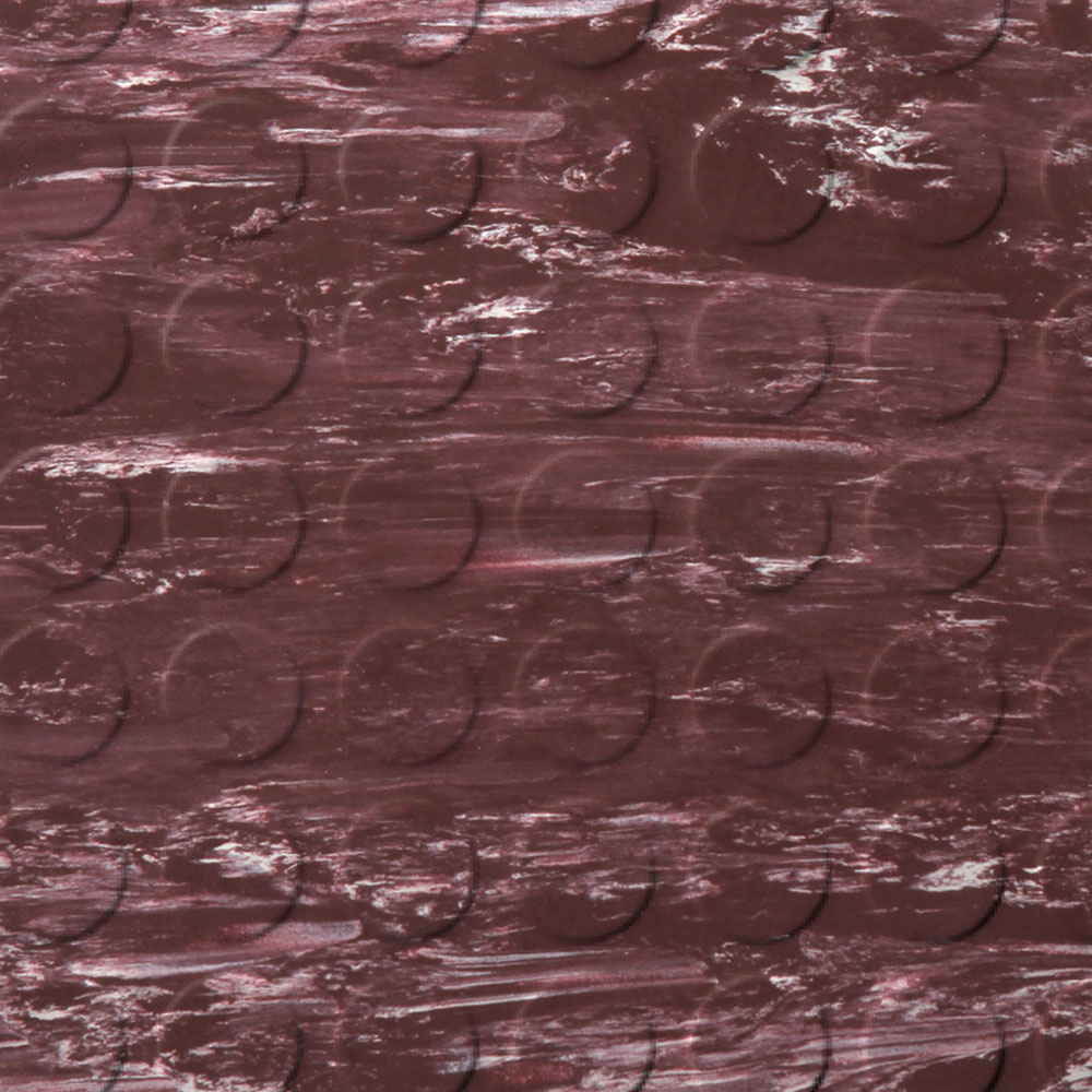 Roppe Stair Tread Low Profile Circular with Square Nose 60 Marbleized Burgundy