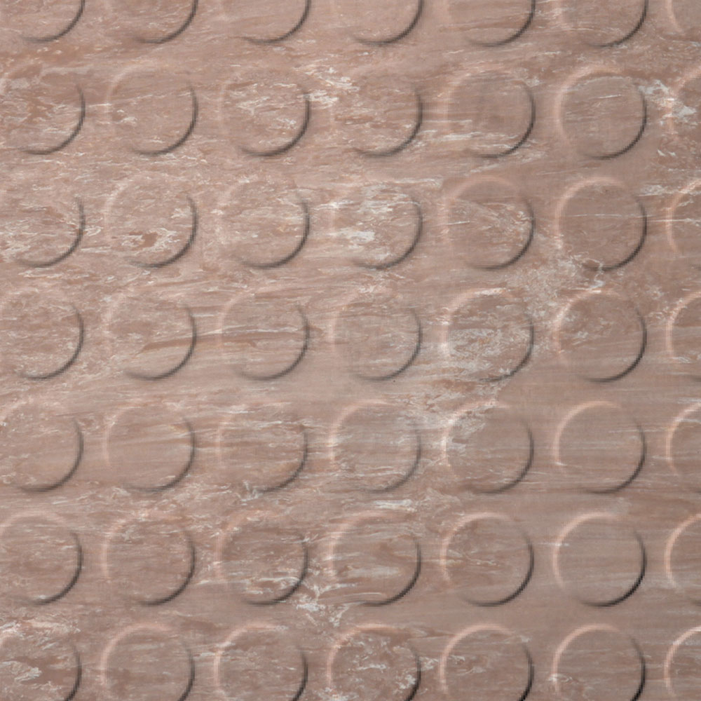 Roppe Stair Tread Low Profile Circular with Square Nose 60 Marbleized Spice
