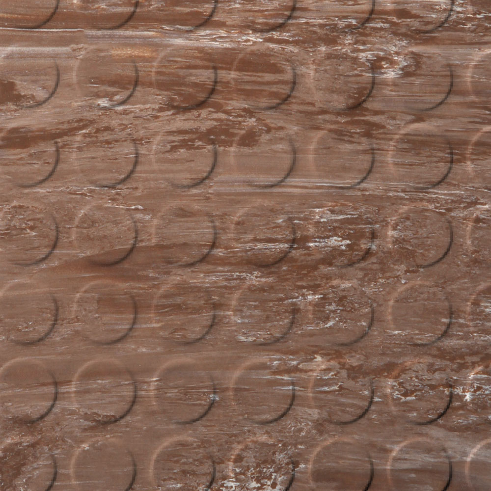 Roppe Stair Tread Low Profile Circular with Square Nose 60 Marbleized Toffee
