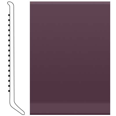 Roppe Pinnacle Rubber Cove Base 6 Burgundy 185