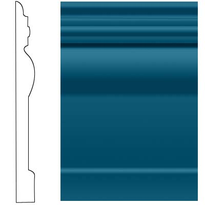Roppe Visuelle Wall Base 7 3/4 Blue 187