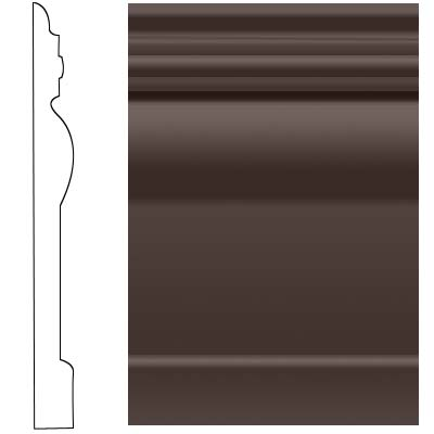 Roppe Visuelle Wall Base 7 3/4 Brown 110