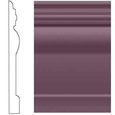 Roppe Visuelle Wall Base 7 3/4 Burgundy 185