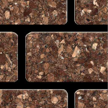 Fritztile Brick 1/4 WT6200 Majestic Red Marble WT6267