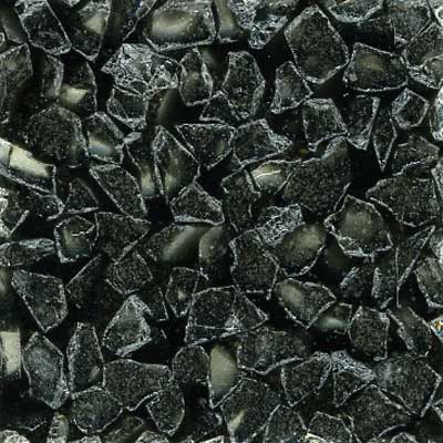 Fritztile Glass Tile GL6500 3/16 Thick Black Silver GL6518A