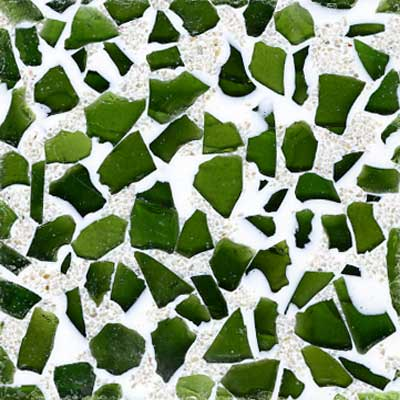 Fritztile Glass Tile GL6500 3/16 Thick Sage GL6505A