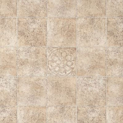 Armstrong Light Commercial - Commission Plus (Dropped) Floral Medallion Fieldstone 80651