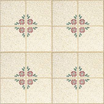 Congoleum Designer Inlaid - Bouquet Wine Wheat D0107