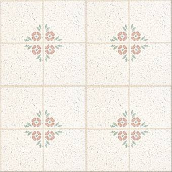 Congoleum Designer Inlaid - Bouquet Rose Multi White D0151