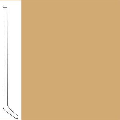 Flexco Wall Base Cove 2 1/2 - 2.03mm Goldenrod
