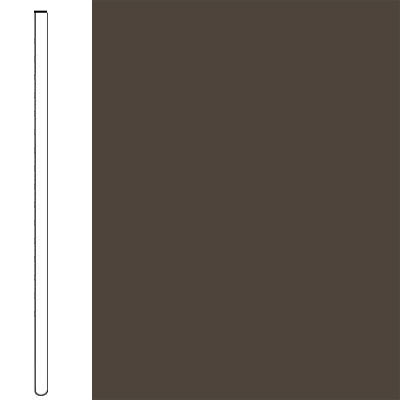Flexco Wall Base Straight 2 1/2 - 2.03mm Black Brown