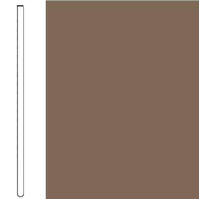 Flexco Wall Base Straight 2 1/2 - 2.03mm Milk Chocolate