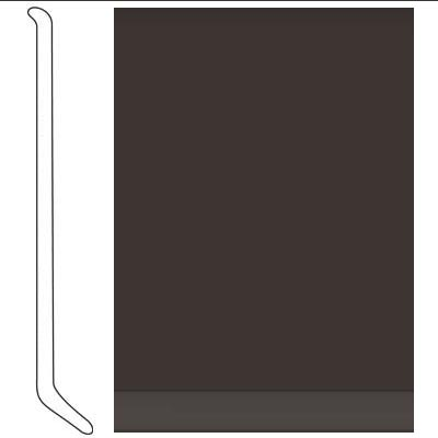 Johnsonite 4 Inch Baseworks ThermoSet Rubber Wall Base with Toe Brown