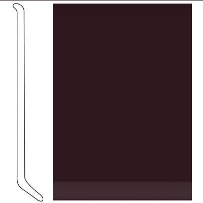 Johnsonite 4 Inch Baseworks ThermoSet Rubber Wall Base with Toe Burgundy