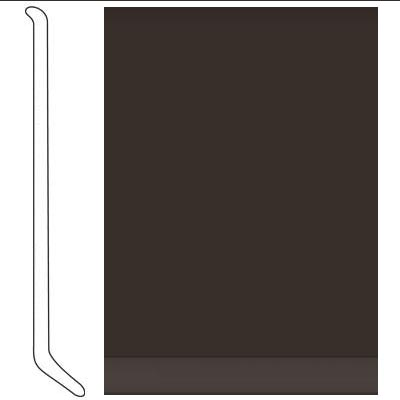 Johnsonite 4 Inch Baseworks ThermoSet Rubber Wall Base with Toe Burnt Umber