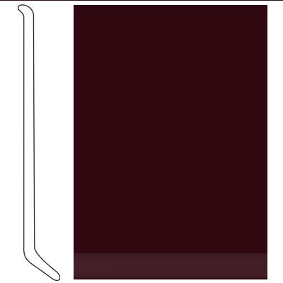 Johnsonite 4 Inch Baseworks ThermoSet Rubber Wall Base with Toe Cabernet