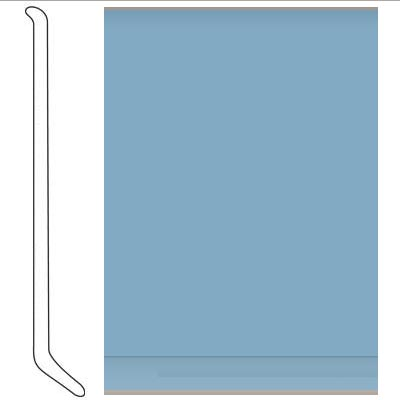 Johnsonite 4 Inch Baseworks ThermoSet Rubber Wall Base with Toe Cerulean