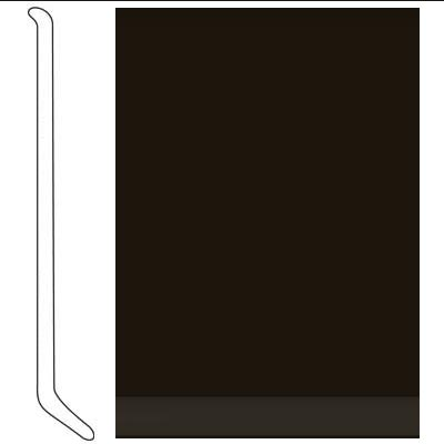 Johnsonite 4 Inch Baseworks ThermoSet Rubber Wall Base with Toe Dark Brown