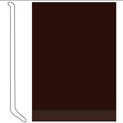 Johnsonite 4 Inch Baseworks ThermoSet Rubber Wall Base with Toe Espresso