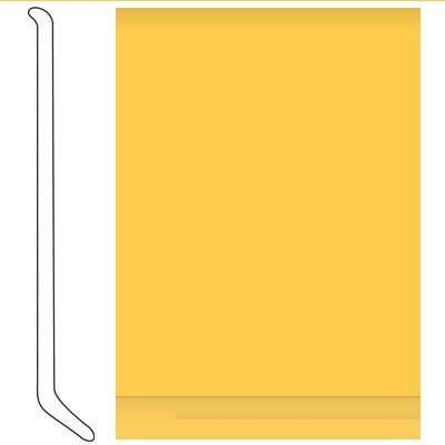 Johnsonite 4 Inch Baseworks ThermoSet Rubber Wall Base with Toe Lemon