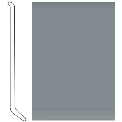 Johnsonite 4 Inch Baseworks ThermoSet Rubber Wall Base with Toe Medium Grey