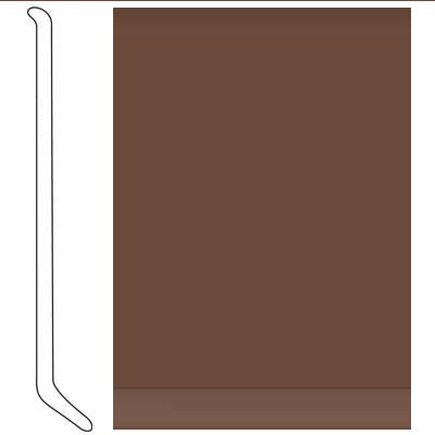Johnsonite 4 Inch Baseworks ThermoSet Rubber Wall Base with Toe Milk Chocolate