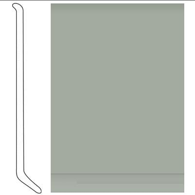 Johnsonite 4 Inch Baseworks ThermoSet Rubber Wall Base with Toe Seafoam