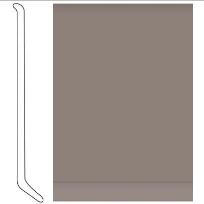 Johnsonite 4 Inch Baseworks ThermoSet Rubber Wall Base with Toe Taupe