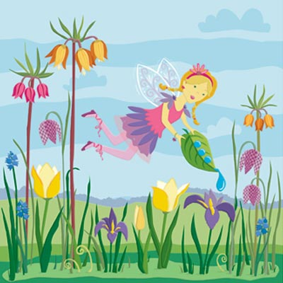 Konecto Kiddie Konecto Fairies Scenes Flowers 63125