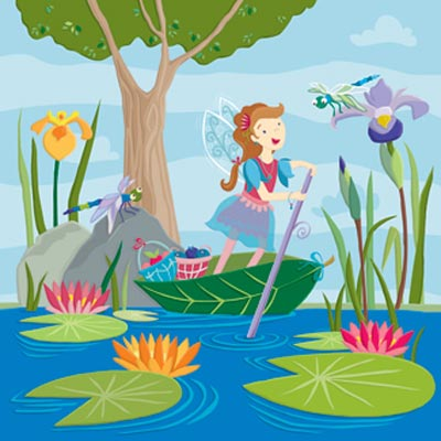 Konecto Kiddie Konecto Fairies Scenes Pond 63125