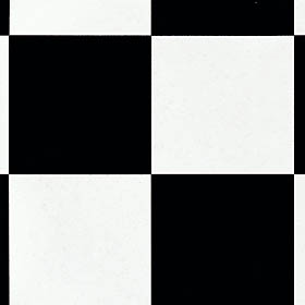 Mannington Quicksilver - Checkpoint 6 Black and White 51112