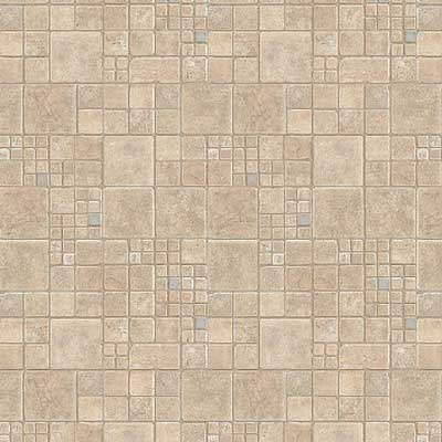 Mannington Aurora - Mendocino 6 Alabaster With Teal 41203
