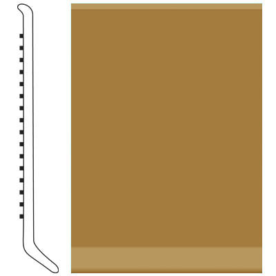 Roppe 2.5 Inch 0.080 Vinyl Cove Base Brass 622