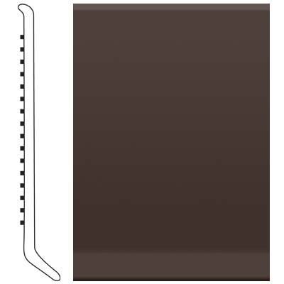 Roppe 2.5 Inch 1/8 Vinyl Cove Base Brown 110