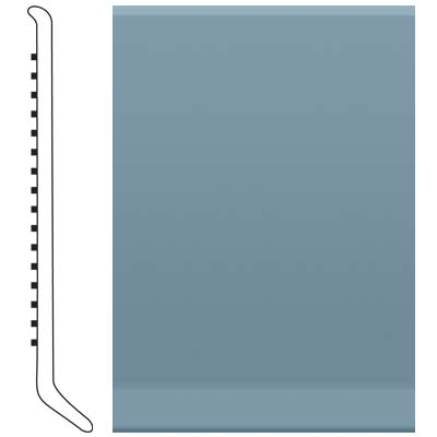 Roppe 6 Inch 0.080 Vinyl Cove Base Colonial Blue 165