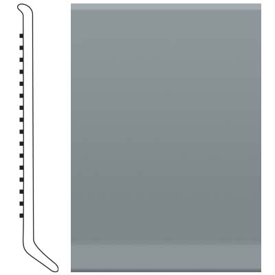 Roppe 2.5 Inch 1/8 Vinyl Cove Base Dark Gray 150