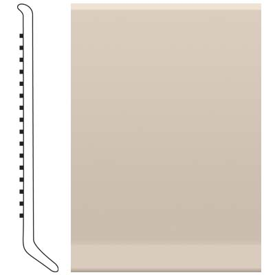 Roppe 4 Inch 1/8 Vinyl Cove Base Ivory 198