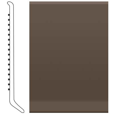 Roppe 2.5 Inch 1/8 Vinyl Cove Base Light Brown 147