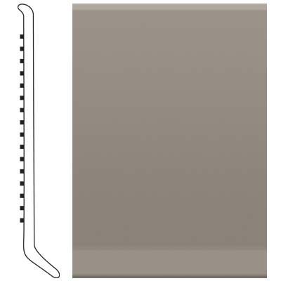 Roppe 2.5 Inch 0.080 Vinyl Cove Base Pewter 178