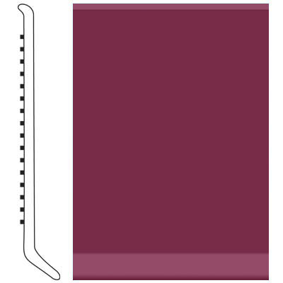 Roppe 6 Inch 1/8 Vinyl Cove Base Plum 620