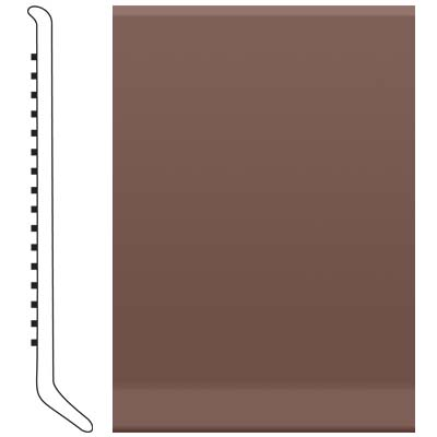 Roppe 4 Inch 1/8 Vinyl Cove Base Russet 181