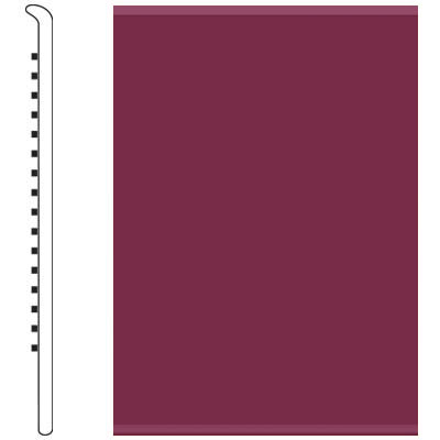 Roppe 6 Inch 0.080 Vinyl No Toe Base Plum 620