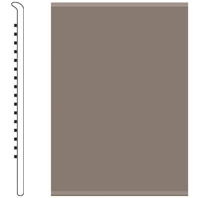 Roppe 6 Inch 1/8 Vinyl No Toe Base Taupe 124