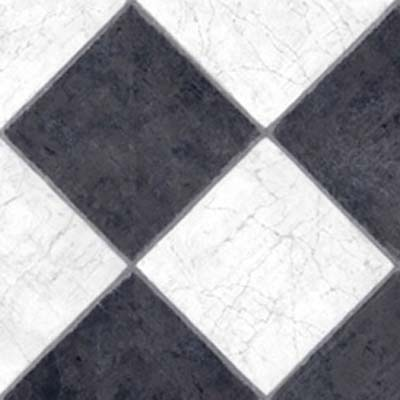 Tarkett Fiberfloor Lifetime French Marble Black & White 38041